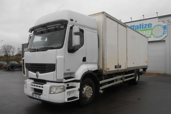 Vente occasion Porteur - RENAULT PREMIUM 450 DXI FOURGON (Belgique - Europe) - Houffalize Trading s.a.
